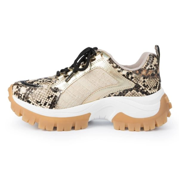 Dad Sneaker Animal Print Bege